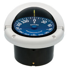 Ritchie SS-1002W SuperSport Racing Boat Compass Flush Mount White/Blue Dial