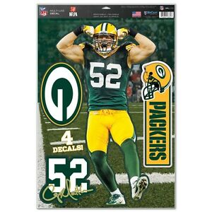 CLAY MATTHEWS GREEN BAY PACKERS MACBOOK LAPTOP REMOVABLE REUSABLE DECALS NEW