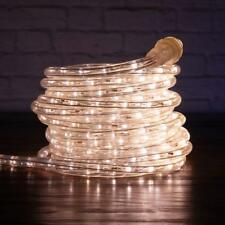 "Warm White LED Rope Lights 3/8"" 2 Wire Simple Extendable Accent Party Decoration"