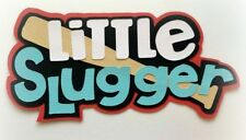LITTLE SLUGGER TITLE BASEBALL PREMADE PAPER PIECING 3D DIE CUT BY MYTB KIRA