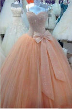 Luxury Bead Quinceanera Dresses For 15 Years Prom Party Ball Gown Custom