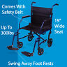 Lightweight Folding Transport Wheelchair Portable Heavy Duty Mobility Travel Aid