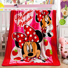 Kids Winter Thick Plush Mink Blanket, Throw, Comforter Quilt - Minnie Mouse