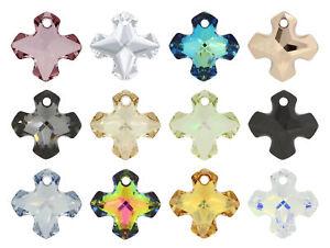 Genuine SWAROVSKI 6867 Crystal Greek Cross Pendants – Many Colors & Sizes