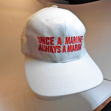Once a Marine Always a Marine white baseball cap trucker hat 1970s