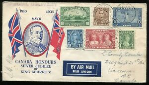 Canada FDC 1935 George V - Silver Jubilee - SET - Canadian Cachet Club - Cover