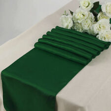 "Satin Table Runner 10 pcs 12""X108"" Wedding venue party decoration - Hunter Green"
