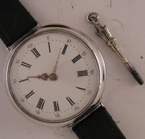 150 Years Old AMAZING SILVER Cylindre French Wrist Watch Perfect Fully Serviced