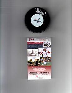 Nicklas Backstrom Signed Auto Washington Capital Logo Puck - JSA CC71718