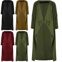 Womens Jacket Waterfall Oversize Cape Cardigan Italian Ladies Blazer Trench Coat