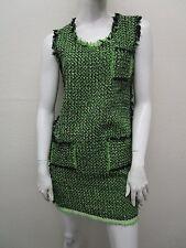 LANVIN Made in France Ete 2012 Patch Pocket Fringe Hem Tweed Dress Size 38