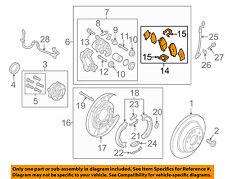 KIA OEM 15-16 K900 Brake-Rear-Disc Brake Pads 583023NA00