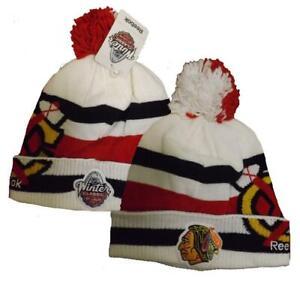 2017 Winter Classic Chicago Blackhawks Mens Size OSFA Reebok Knit Beanie Hat $26