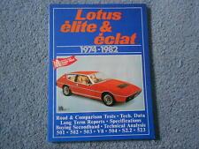 1974-1982 LOTUS ELITE ECLAT BROOKLANDS ROAD TEST COMPARISON DATA SPECS REPORTS