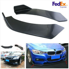 2Pcs Glossy Black Front Bumper Splitter Lip Body Protector Diffuser Kit for Car