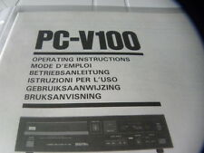 Sansui PC-V100 Owner's Manual  Operating Instructions Istruzioni New