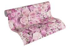 "32722-4) moderne Design Vliestapete  ""Urban Flowers"" Blumen Rosen creme - rosé"