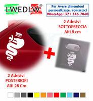 2 Adesivi Loghi biscione bisce ALFA ROMEO stickers tuning car mito 147 giulia