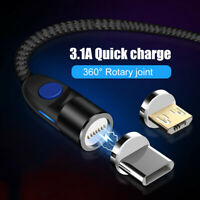 Cg_ HOT USB Type-C Magnetic Fast Charging Data Transfer Cable for Android iPhone