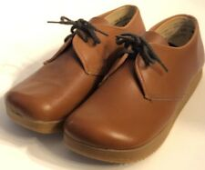 Charm Step Vintage 5.5 M Lace Up Brown Leather Shoes 60's 70's Mod Dead Stock
