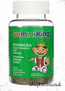 GummiKing, Vitamins for kids immune Vit C And Zinc For Kids, 60 Vegan Gummies