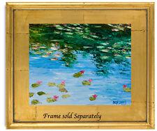 Natasha Petrosova  Original Oil  Painting   Impressionism Water lily reflections