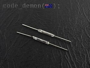 New Reed Switch 10W Low Voltage Normally Open Magnetic Switch 2x14mm (x2)