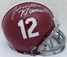 Joe Willie Namath Autographed Signed Alabama Mini Helmet Beckett C99159