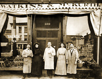 """1908 Watkins and McKurth Grocery, Perry, NY Old Vintage Photo 8.5"""" x 11"""" Reprint"""