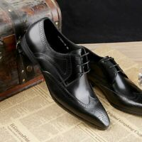 Mens Wing Tip Lace Up Wedding Brogue Leather Oxfords Dress Formal Shoes Vogue