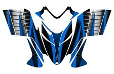 POLARIS SHIFT RMK DRAGON graphics wrap snowmobile sticker kit #1900 Blue