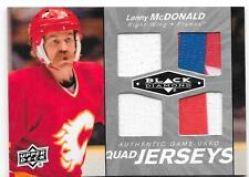 2010-11 Black Diamond Quad Jerseys Lanny McDonald, QJ-LM, Multi Colored, Flames