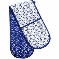 Blue Rose Double Oven Glove Padded Mitt Cotton Heat Resistant Kitchen Accessory