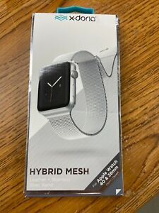 X-Doria Hybrid Mesh for Apple Watch - Silver/White 38-40mm
