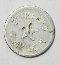 Grimland Aluminum Play Coin 5 Stars Amusement Park Games Token 21mm