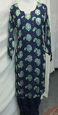 beautiful full embroidery chiffon salwar kameez Size XL44  NET  40