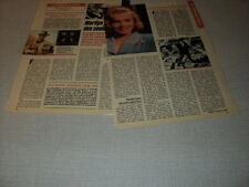 G221 MARILYN MONROE CLINT EASTWOOD ORSON WELLES '1989 FRENCH CLIPPING