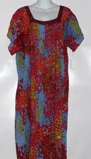 Loungees Plus Size Short Sleeve Long Crinkle Lounge Dress Red 2X NWT