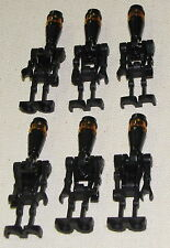 LEGO LOT OF 6 NEW BLACK STAR WARS ASSASSIN DROID MINIFIGURES