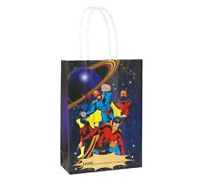 6 Super Hero Bags With Handles - Luxury Party Treat Sweet Loot Lunch Gift
