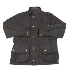 BARBOUR Wax Jacket   Small   Coat Waterproof Lined Tartan Leather Collar Zip