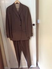 hugo boss two piece suit brown mens