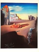 SALVADOR DALI HAND SIGNED * SHADES OF THE NIGHT DESCENDING* COLORPLATE