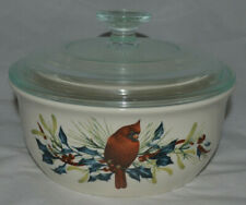 Lenox 1 1/2 Qt Casserole Dish W/Lid, Winter Greetings By Catherine McClung