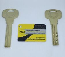 Yale Superior Series Keys. Cut to code. Genuine blanks only.