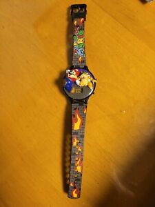 VINTAGE (1996) NINTENDO SUPER MARIO 64 OFFICIAL DIGITAL LCD WRIST WATCH Bowser!