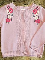 Gymboree Girls Cable Knit Purple Lavender Cardigan Sweater Size 2T MSRP $37
