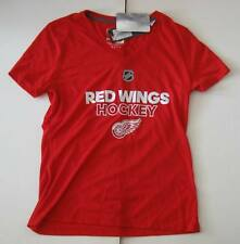 S Women Adidas Ultimate Ice Detroit Red Wings V-Neck Ultimate T-Shirt Red NWT