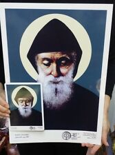 St.Charbel Makhlouf  Lebanon, 40 cm,16 inch Picture for framing and free magnet