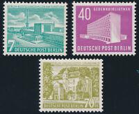 BERLIN 1954, MiNr. 121-123, 121-23, postfrisch, Mi. 130,-